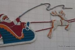 The W and D Santa and Reindeer display