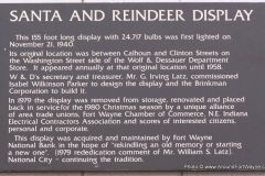 The W&D Santa and Reindeer display