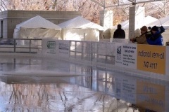 The Headwaters Park Ice Rink set up