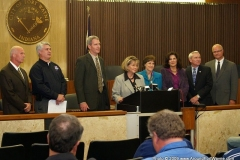 Local and State officials at the H1N1 press conference