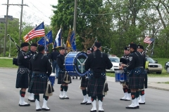 The FWPD Pipe and Drum Brigade