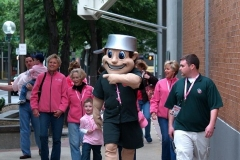 Johnny leads the parade