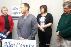 Cathie Humbarger, Marlin Stutzman, Abby Johnson and Congressman Mark Souder