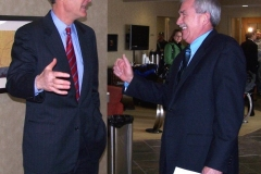US Senator Evan Bayh and Mayor Tom Henry