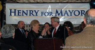 City Clerk Sandy Kennedy and Mayor Tom Henry