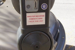 Current parking meter