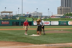 Fritz throws out the first pitch