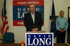 Indiana State Senator David Long and Mitch Harper