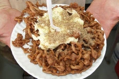 German Chocolate Funnel Cake