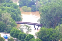 2015/06/19: Pedestrian Bridge over flooding waters