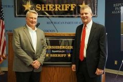 Sheriff David Gladieux and Troy Hershberger