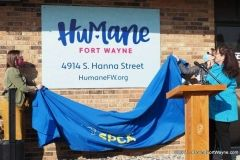Unveiling of the new Humane Fort Wayne signage