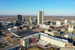 Southwest side of downtown Fort Wayne, Indiana