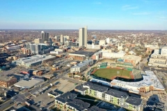 Parkview Field and downtown Fort Wayne Indiana