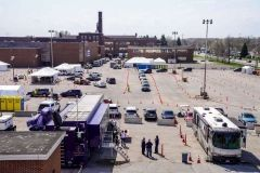 COVID-19 mass vaccination clinic in Gary, Indiana