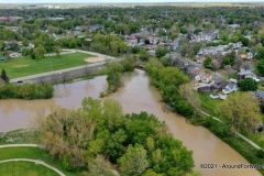Flooding on Spy Run Creek and the St. Marys River