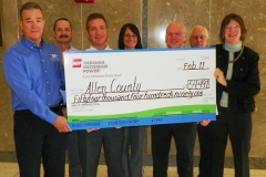 I&M check presentation to Allen County Commissioners