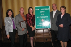 County officials accept award at the Association of Indiana Counties' Annual Conference
