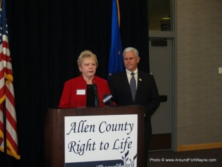 Cathie Humbarger and Congressman Mike Pence
