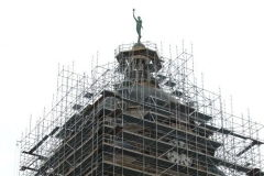 The scaffolding on the Courthouse