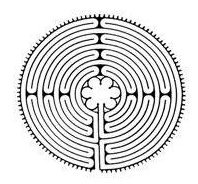 Drawing of a Chartres Style Labyrinth
