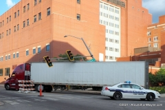 Downtown truck accident