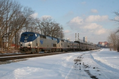 Amtrak leaving Fort Wayne