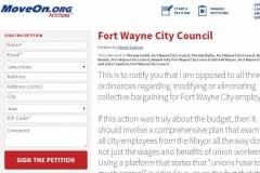 Collective bargaining petition