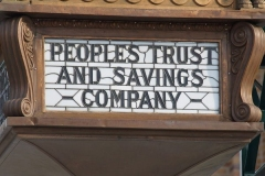 The Peoples Trust & Savings Company Clock