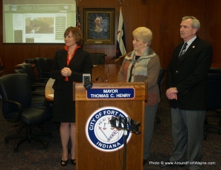 2011/03/30: Beth Malloy, Sandy Kennedy and Mayor Tom Henry