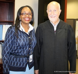 2015/11/09: City Clerk Michelle D Chambers and Judge Stanley A. Levine