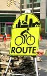 New Bike Route Sign