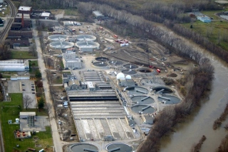 Aerial photo of Pollution Control Plant