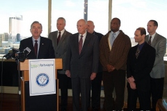 Mayor Tom Henry with Legacy Fort Wayne task force members