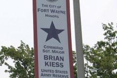 Blue Star Banner for Sgt. Major Brian Kiess