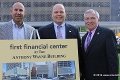 John Nichols, Rob Slusser, and Mayor Tom Henry