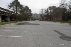 The Freimann Square parking lot