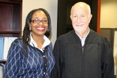 City Clerk Michelle D Chambers and Judge Stanley A. Levine