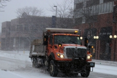 City snow plow in action