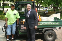 Downtown Larry and Mayor Tom Henry