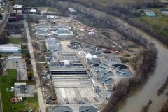 Aerial photo of P. L. Brunner Water Pollution Control Plant