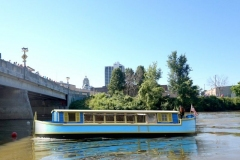 Canal Boat coming to Fort Wayne