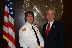 Chief Amy Biggs and Mayor Tom Henry
