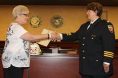 2012/07/02: City Clerk Sandy Kennedy and Fire Chief Amy Biggs