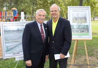 Mayor Tom Henry and Fort Wayne Parks and Recreation Director Al Moll