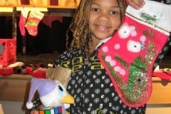 One happy child with her stocking