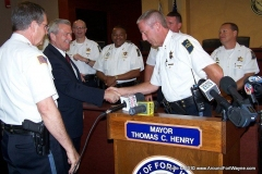 2013/07/15: Mayor Tom Henry and Stephen Haffner