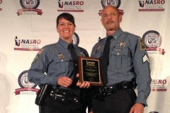 Officers Liza Anglin and Jon Noll