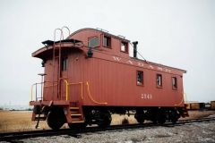 The restored Wabash Caboose