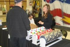 Wrapping gifts at Glenbrook Square Mall